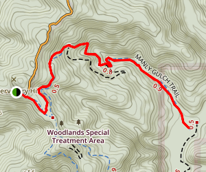 Manly Gulch Trail Map