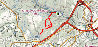 Ridge Rockburn and Hop the Snake Trails Loop Map