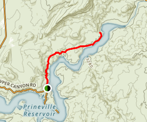 Northern Prineville Reservoir Map