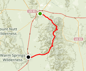 Hualapai Mountain Road: Kingman to Yucca Map