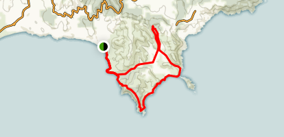 Cap Lardier and Cap Taillat Loop Map
