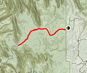 East Mesa Trail to Blew by Peak Map