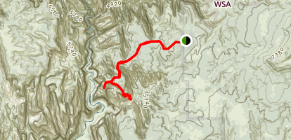 East Mesa Trail Map