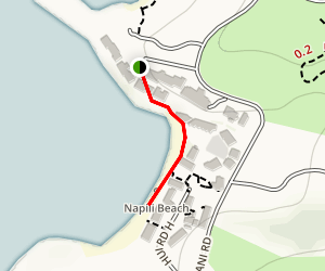Napili Bay Beach Trail Map