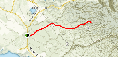 Molokai Forest Reserve Road Trail Map