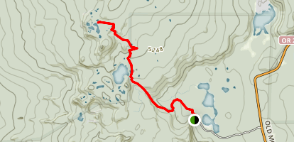 Tenas Lakes Trail Map