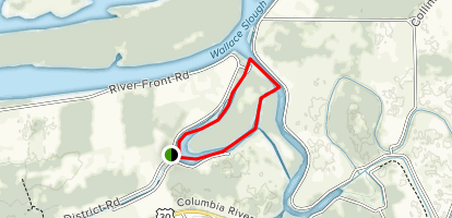 Anunde Island Kayak Loop Map