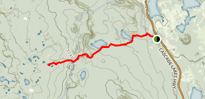 Senoj Trail Via Six Lakes Trail Map