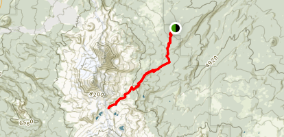 Chambers Lakes Basin Trail Map