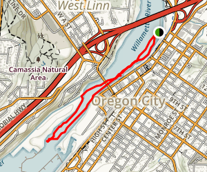Willamette Falls Kayak Map