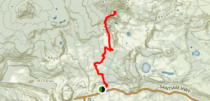 Santiam Highway to Summit Lake Map