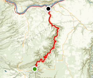 Deschutes River: Sherar's Falls to Columbia River Map
