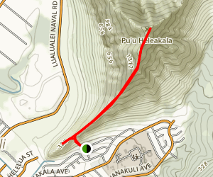 Pu'u Heleakala and Nanakuli Trail Map