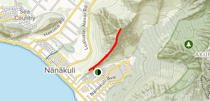 Pu'u Heleakala and Nanakuli Trail [PRIVATE PROPERTY] Map
