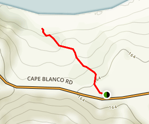 Cape Blanco North Shore Trail Map
