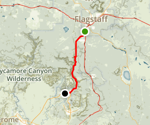 Oak Creek Canyon Scenic Drive Map