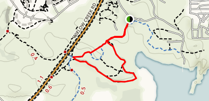 Cottonwood Peninsula Spur Trail At Willow Lake Map