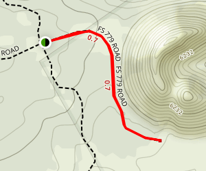 Strawberry Crater Wilderness Trail Map