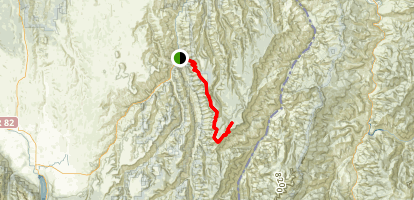 Grizzly and Summit Ridges via Hat Point Road Map