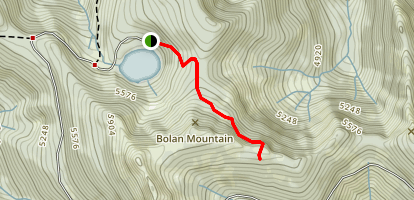 Bolan Lake Trail Map