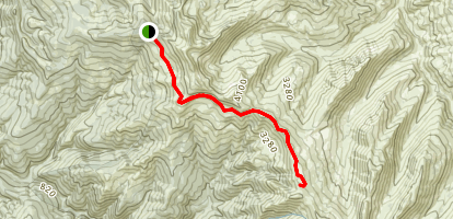 Chetco Lake Trail Map