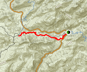 Molino Canyon Vista to Ridgeline Map