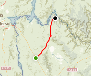 Pearce Ferry Road Scenic Drive: US 93 to Lake Mead Map