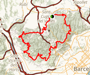 Collserola Bike Route Map