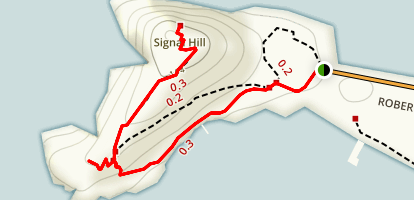 Fort Rodney and Signal Hill Map