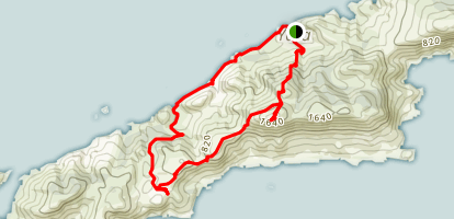 Mount Eros Loop Trail Map