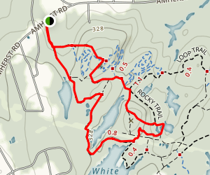 Blodgett Hill and Rocky Trail Loop Map