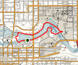 Spokane River Walk Map