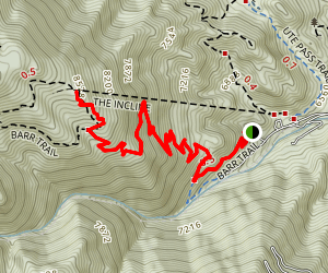 Lower Barr Trail to Eagle's Nest Map