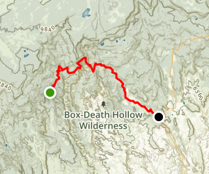 Hells Backbone Trail Map