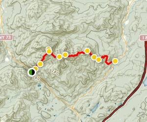 Giant Mountain and Rocky Peak Ridge Trail Map