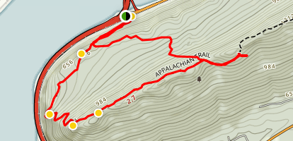 Peters Mountain Ridge via Appalachian Trail Map