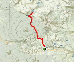 Santiam, Duffy, and Mowich Lakes Trail Map