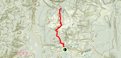 Santiam Highway to Marion Lake Trail Map