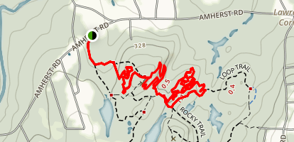 Ledges and Twister Trail Loop Map