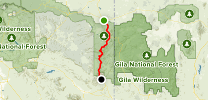 Coronado Trail Scenic Byway: Springerville to Morenci Map
