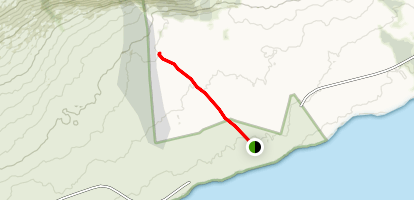 End of Chain of Craters Road to Active Lava Flow Map