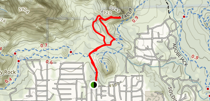 Teacup Trail to Coffeepot Rock Map
