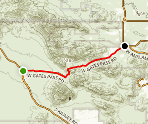 Kinney and Gates Pass Roads Map