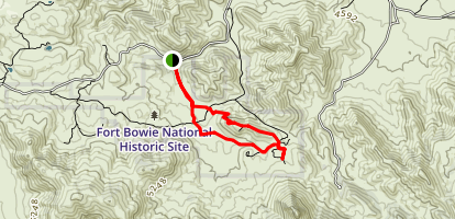 Fort Bowie Trail Map