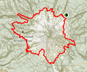 Timberline Trail Around Mount Hood From Cloud Cap Inn Map