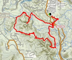 Easy Breezy and Highline Loop Trail to Chapel Rock Map