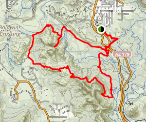 Easy Breezy to Baldwin to Hiline to Slim Shady Loop Map