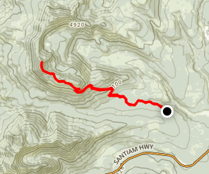 Crescent Mountain Trail Map