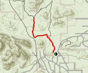 Rock Peak Wash Trail Map