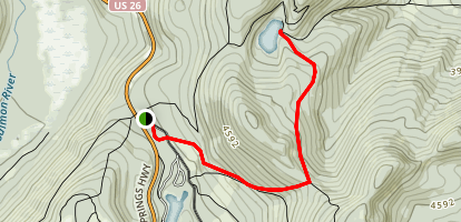 Frog Lake Trail to Frog Butte Trail Map